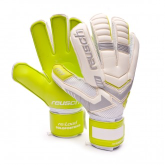 Guante  Reusch Re:load Prime M1 Exclusivo White-Safety Yellow