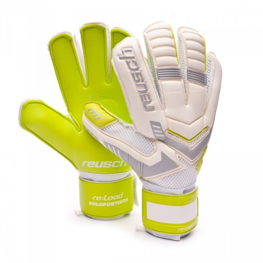 Guanto  Reusch Re:load Prime M1 Esclusivo White-Safety Yellow