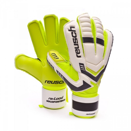 Guante  Reusch Re:load Prime M1 Exclusivo White-Silver-Lime