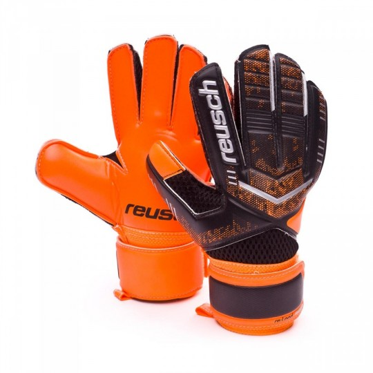 Guante  Reusch jr Re:load Black-Orange