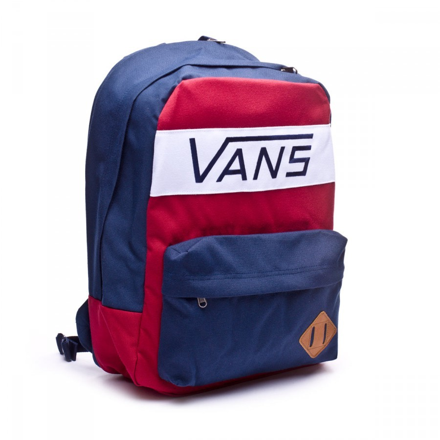 5cc07414e Backpack Vans Old Skool Plus Rhubard-Dress Blue - Football store ...