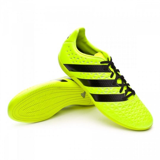 Sapatilha de Futsal  adidas Ace 16.3 IN Solar yellow-Black-Silver metallic