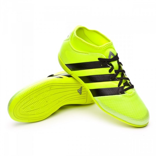 Sapatilha de Futsal  adidas jr Ace 16.3 Primemesh IN Solar yellow-Black-Silver metallic