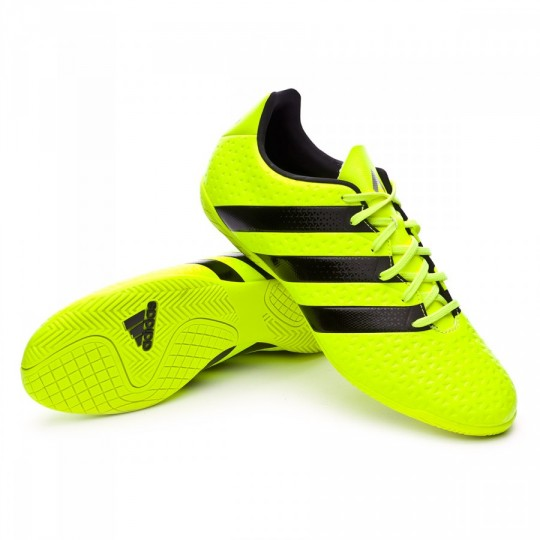 Sapatilha de Futsal  adidas jr Ace 16.4 IN Solar yellow-Black-Silver metallic