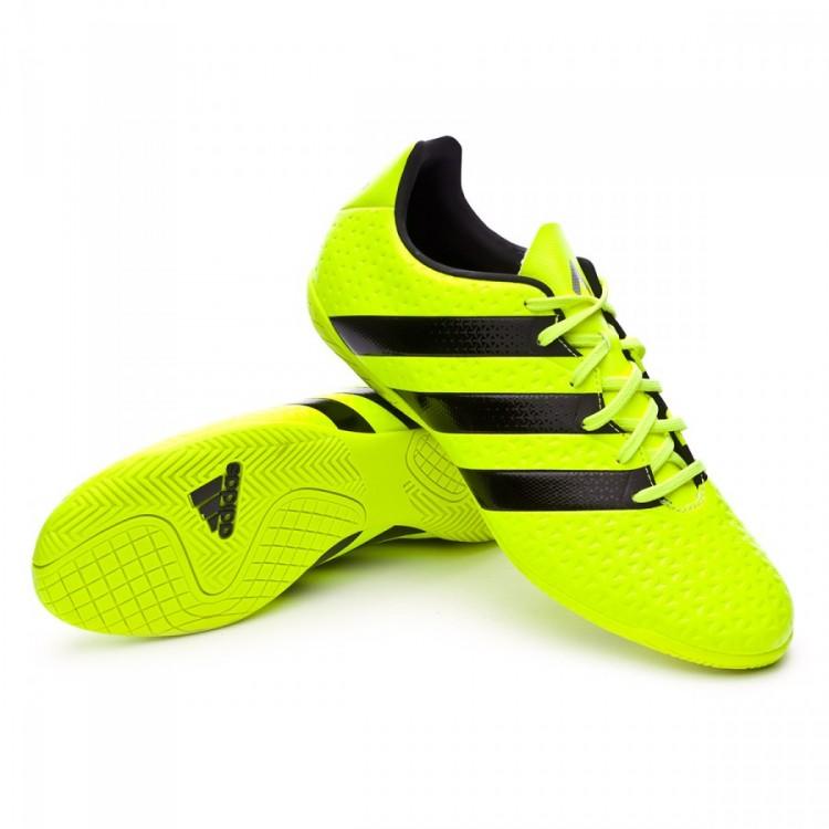 Zapatilla adidas Ace 16.4 IN Niño Solar yellow-Black-Silver metallic ... 9f2e6d65f606e