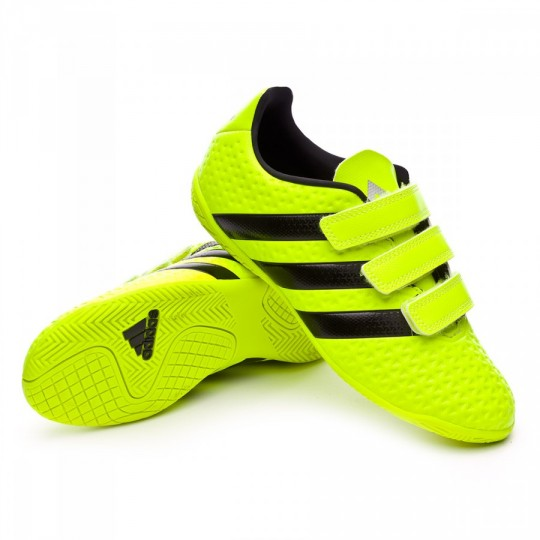 Sapatilha de Futsal  adidas jr Ace 16.4 IN (V) Solar yellow-Black-Silver metallic