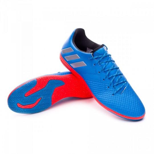 Zapatilla de fútbol sala  adidas Messi 16.3 IN Shock blue-Matte silver-Black