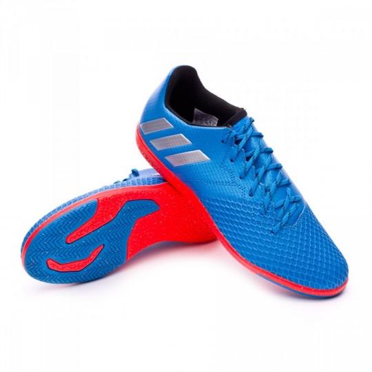 Zapatilla de fútbol sala  adidas jr Messi 16.3 IN Shock blue-Matte silver-Black
