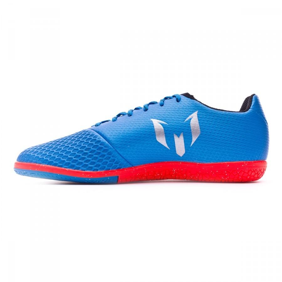 new style 876ca c58ba Tenis adidas Messi 16.3 IN Niño Shock blue-Matte silver-Black - Tienda de  fútbol Fútbol Emotion