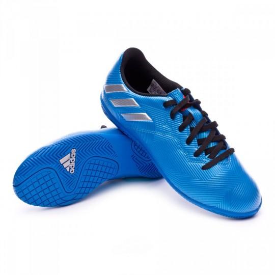 Zapatilla de fútbol sala  adidas jr Messi 16.4 IN Shock blue-Matte silver-Black