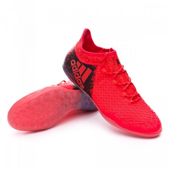 Sapatilha de Futsal  adidas X 16.1 CT Solar red-Black