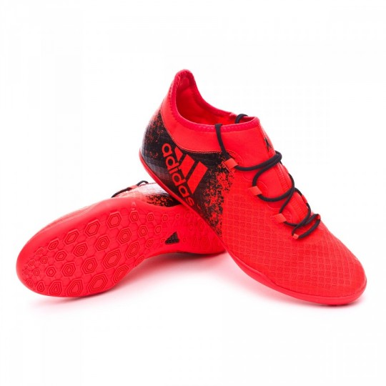 Sapatilha de Futsal  adidas X 16.2 CT Solar red-Black