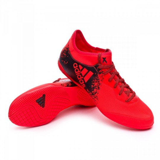 Sapatilha de Futsal  adidas X 16.3 CT Solar red-Black