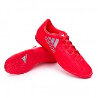 Zapatilla de fútbol sala  adidas X 16.4 IN Solar red-Silver metallic