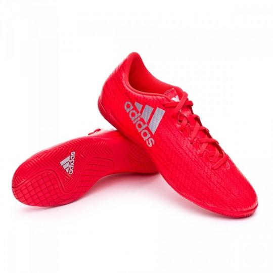 Sapatilha de Futsal  adidas X 16.4 IN Solar red-Silver metallic