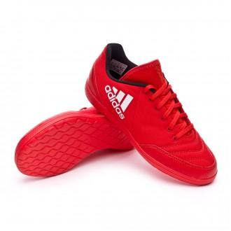 Zapatilla de fútbol sala  adidas jr X 16.4 ST Red-White-Power red