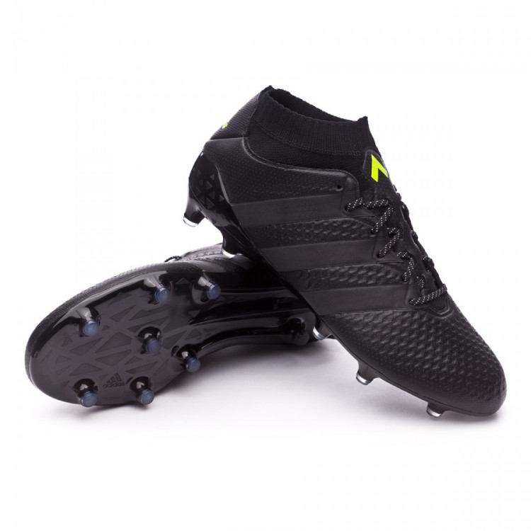 newest 12830 c595f bota-adidas-ace-16.1-primeknit-fgag-core-black-