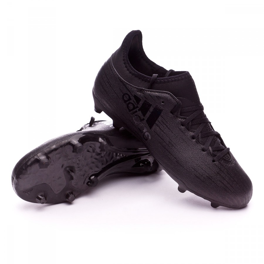 24f97c34549be Football Boots adidas Jr X 16.3 FG Core Black - Tienda de fútbol ...