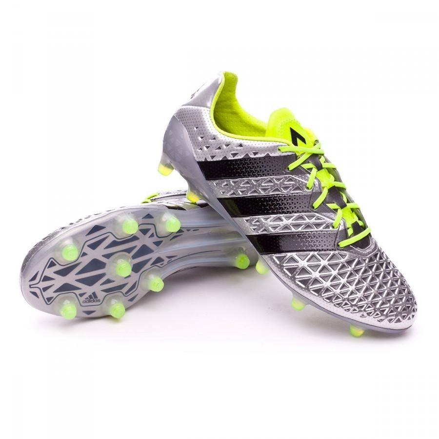 De 16 Adidas Chaussure Foot Ace Black Metallic Fg Silver Solar 1 n1xdZdIwq