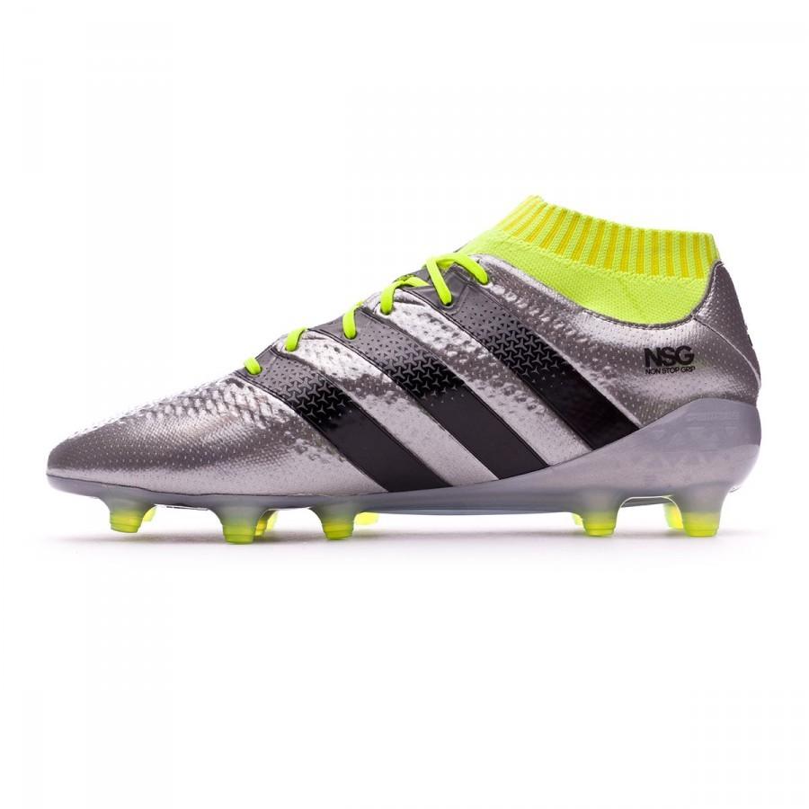 5780d614d91 Football Boots adidas Ace 16.1 Primeknit FG Silver metallic-Black-Solar  yellow - Tienda de fútbol Fútbol Emotion
