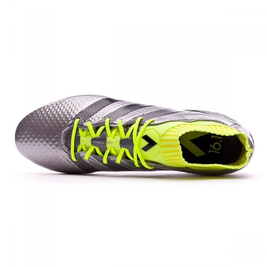 47b19803 Football Boots adidas Ace 16.1 Primeknit FG Silver metallic-Black-Solar  yellow - Football store Fútbol Emotion