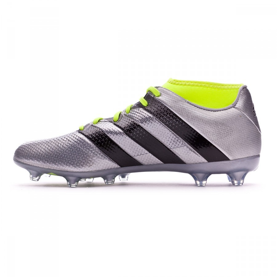 ff16ce8e9 Football Boots adidas Ace 16.2 Primemesh FG AG Silver metallic-Black-Solar  yellow - Football store Fútbol Emotion