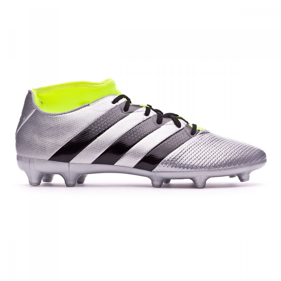 promo code c949a 09449 Boot adidas Ace 16.3 Primemesh FGAG Silver metallic-Black-Solar yellow -  Football store Fútbol Emotion