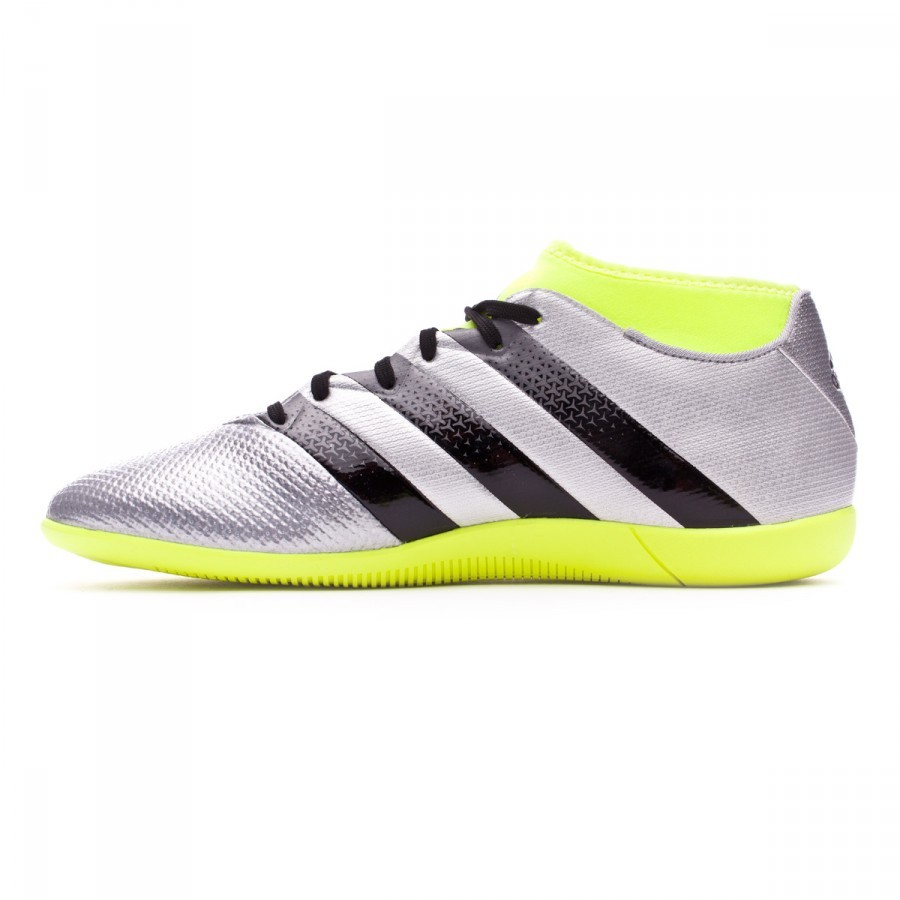 b791f8ec88 Sapatilha de Futsal adidas Ace 16.3 Primemesh IN Silver  metallic-Black-Solar yellow - Loja de futebol Fútbol Emotion