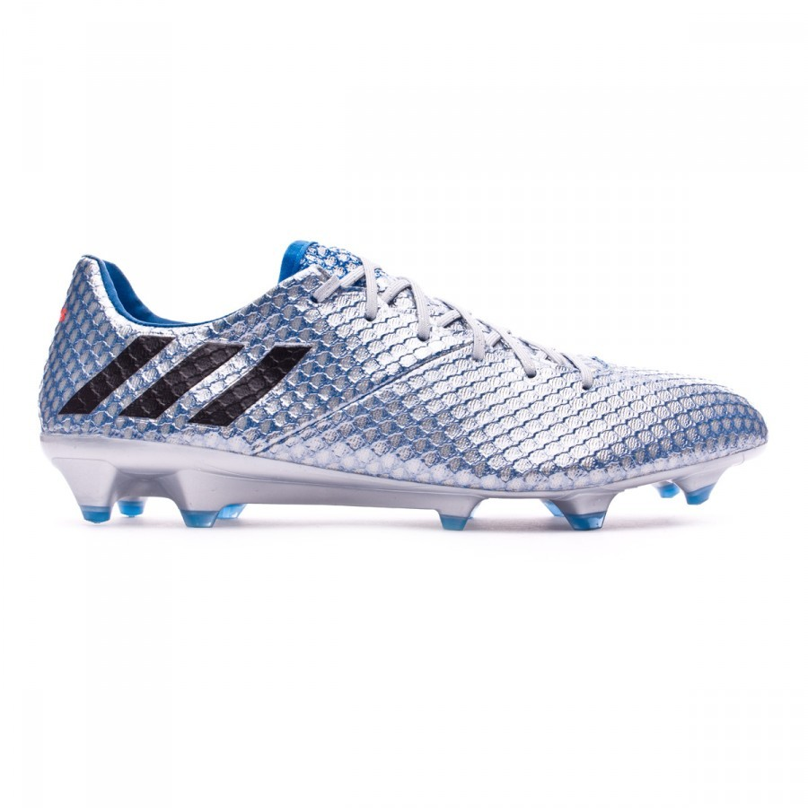 a16387cf2 Football Boots adidas Messi 16.1 FG Silver metallic-Black-Shock blue -  Football store Fútbol Emotion