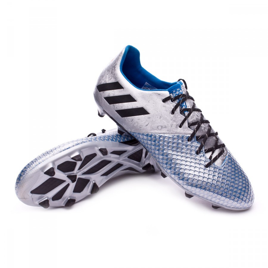 8df85c1336d Football Boots adidas Messi 16.2 FG Silver metallic-Black-Shock blue ...