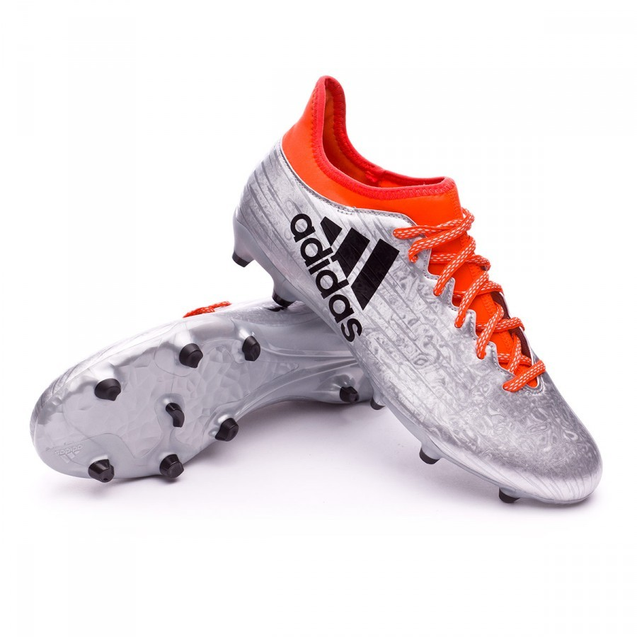 c19dbe29d7923 Football Boots adidas X 16.3 FG Silver metallic-Black-Solar red ...