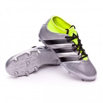 Chuteira  adidas Jr Ace 16.3 Primemesh FG/AG Silver metallic-Black-Solar yellow