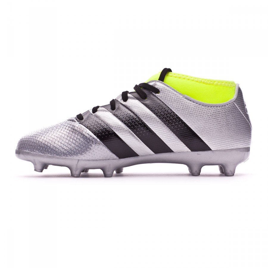 3548bf06bc8 Football Boots adidas Ace 16.3 Primemesh FG AG kids Silver metallic-Black-Solar  yellow - Football store Fútbol Emotion