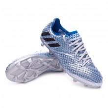 jr Messi 16.1 FG Silver metallic-Black-Shock blue