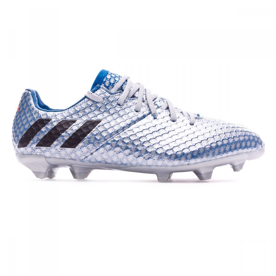 21234ac5c Football Boots adidas Kids Messi 16.1 FG Silver metallic-Black-Shock blue -  Football store Fútbol Emotion