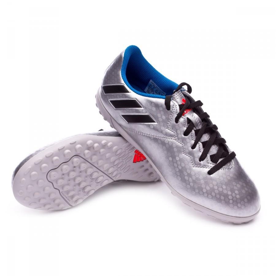 c4afc8092f2 Football Boots adidas Jr Messi 16.4 Turf Silver metallic-Black-Shock ...