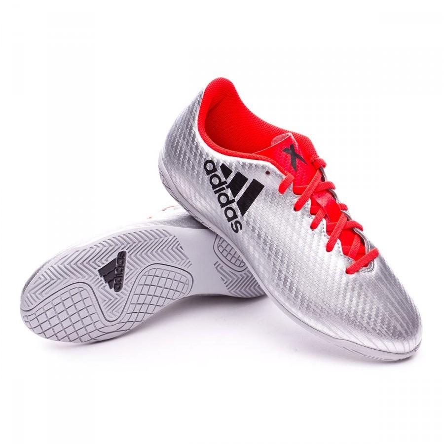 766fa96820d0e Tenis adidas X 16.4 IN Niño Silver metallic-Black-Solar red - Tienda de fútbol  Fútbol Emotion