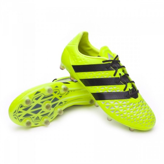 Chuteira  adidas Ace 16.1 FG Solar yellow-Black-Silver metallic