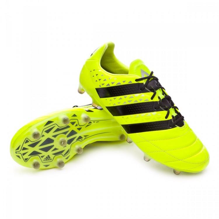 Bota de fútbol adidas Ace 16.1 FG Piel Solar yellow-Black-Silver ... 7b870d70970eb
