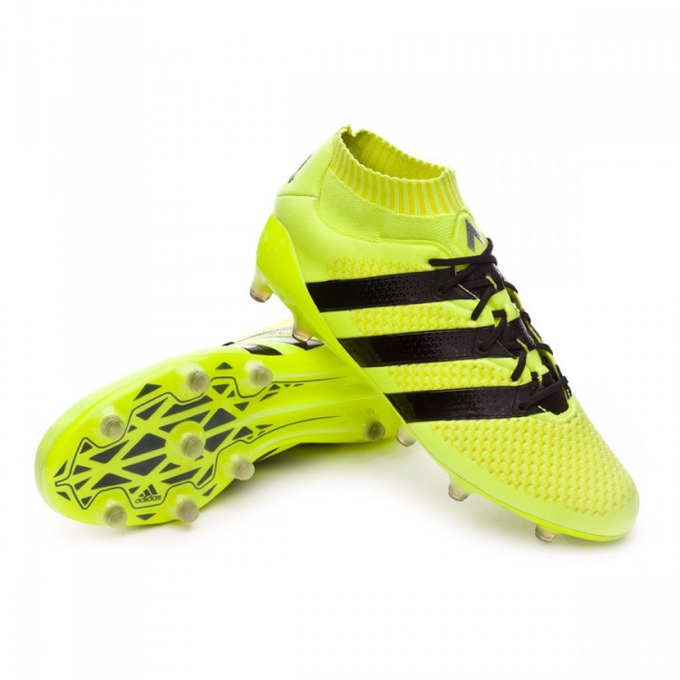 new arrival 3843c 2e850 Bota Ace 16.1 Primeknit FG Solar yellow-Black-Silver metallic