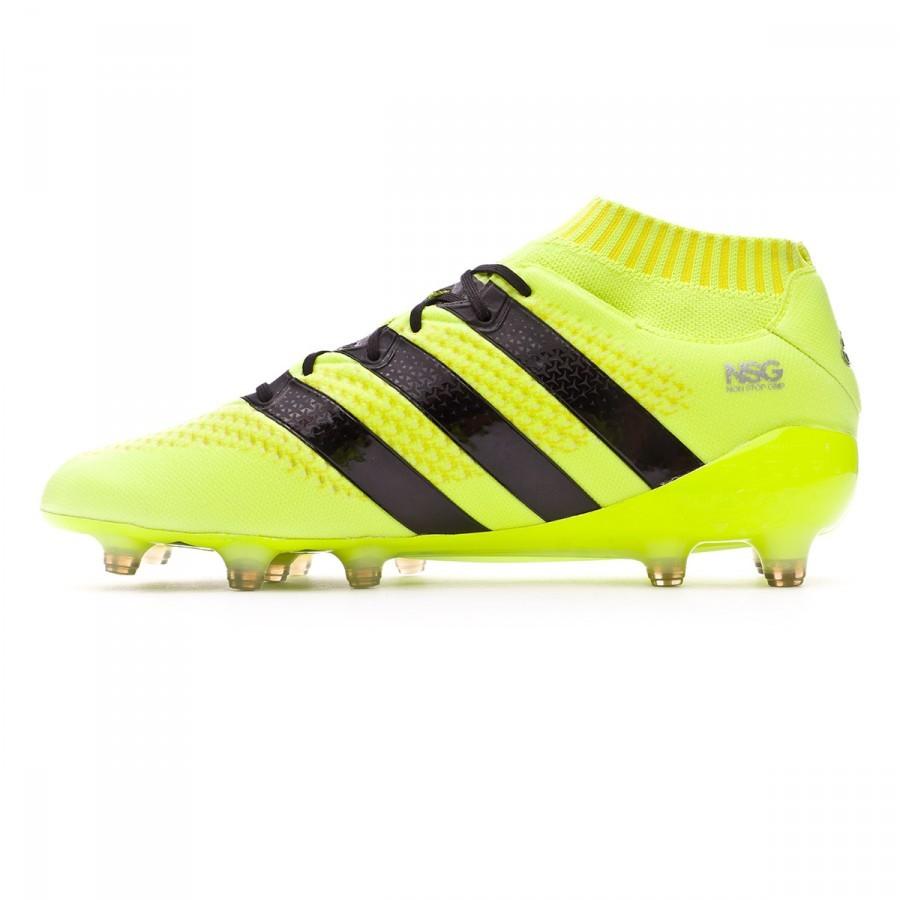 62bf87e1a1d90 Bota de fútbol adidas Ace 16.1 Primeknit FG Solar yellow-Black-Silver  metallic - Leaked soccer
