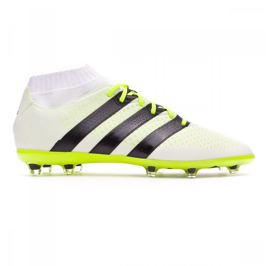 7dc68dcca Football Boots adidas Ace 16.1 Primeknit FG AG Mujer White-Black-Solar  yellow - Football store Fútbol Emotion