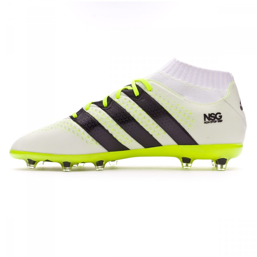 best sneakers 6552d 8373c Boot adidas Ace 16.1 Primeknit FGAG Mujer White-Black-Solar yellow -  Football store Fútbol Emotion