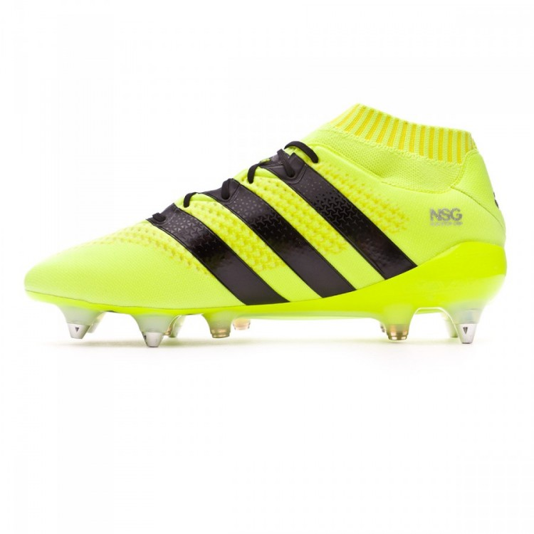 new product a378d b5378 Bota Ace 16.1 Primeknit SG/FG Solar yellow-Black-Silver metallic