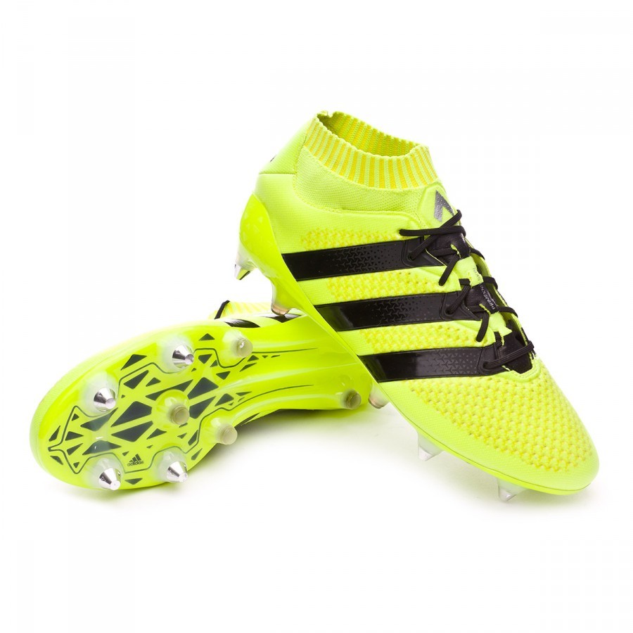 the latest 053d9 ea949 Zapatos de fútbol adidas Ace 16.1 Primeknit SG FG Solar yellow-Black-Silver  metallic - Soloporteros es ahora Fútbol Emotion