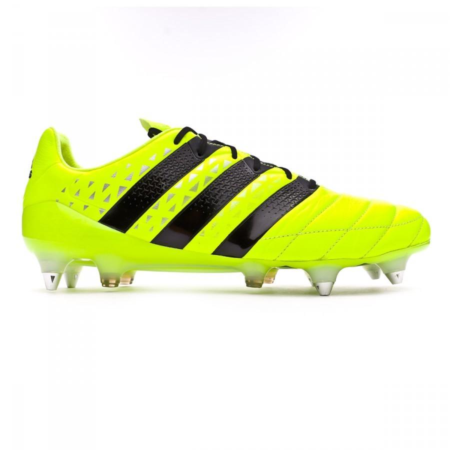 Black Solar Ace Adidas 1 Sgfg 16 Scarpe Yellow Pelle Silver 8gOfq