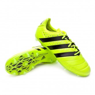 Bota  adidas Ace 16.2 FG Piel Solar yellow-Black-Silver metallic