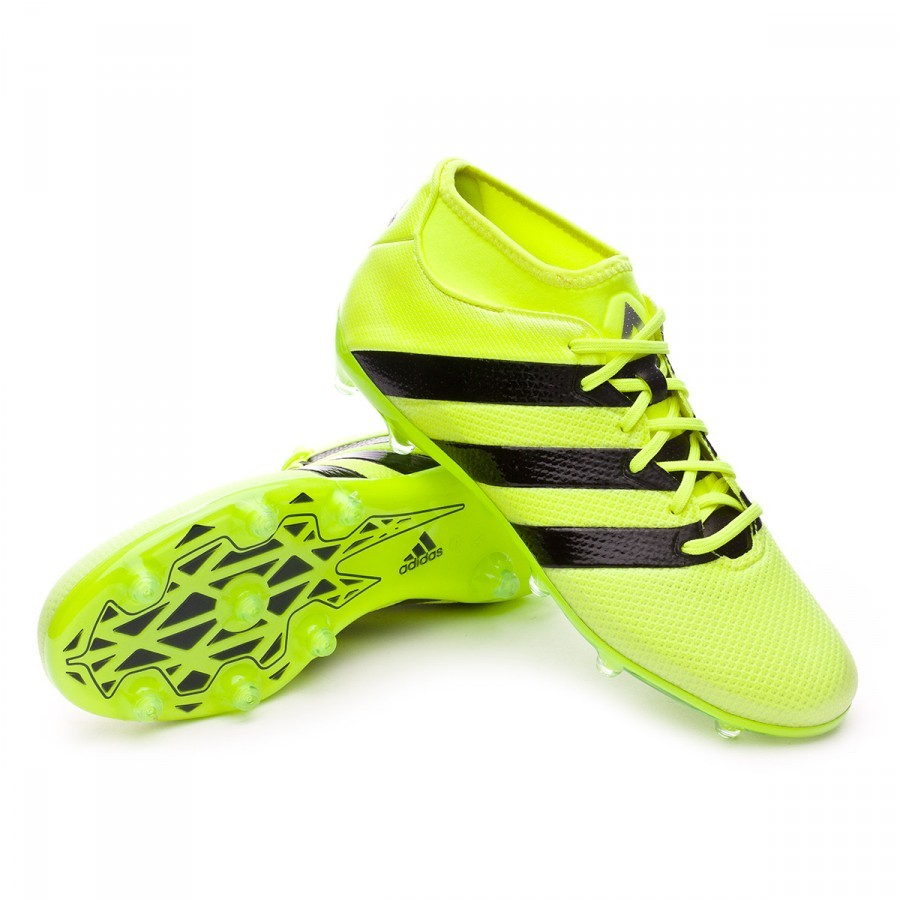 Boot adidas Ace 16.2 Primemesh FG AG Solar yellow-Black-Silver metallic -  Football store Fútbol Emotion 05b93e9aef