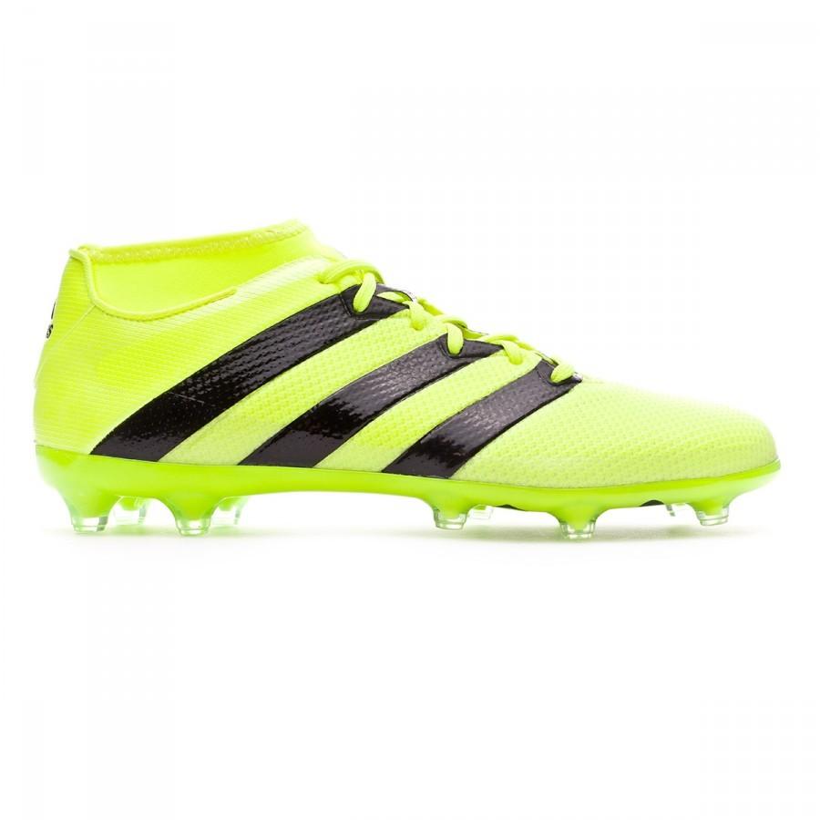 f34187449dd Football Boots adidas Ace 16.2 Primemesh FG AG Solar yellow-Black-Silver  metallic - Football store Fútbol Emotion