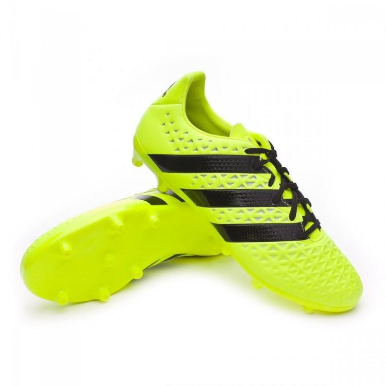Chuteira adidas Ace 16.3 FG Solar yellow-Black-Silver metallic ... 30e16ff75c240